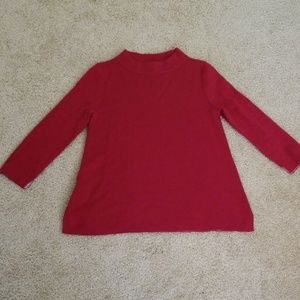 Loft red sweater top